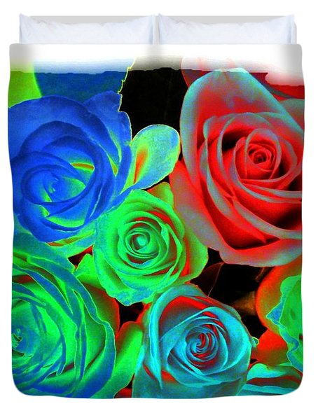 Incandescent Roses Duvet Cover by Will Borden