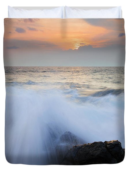 Incoming Duvet Cover by Mike  Dawson