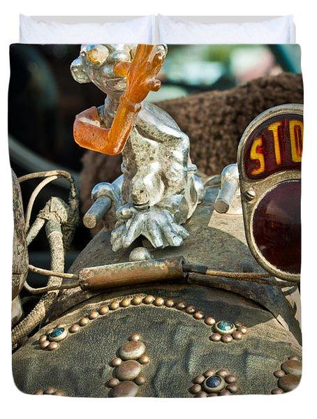 Indian Chopper Taillight Duvet Cover by Jill Reger