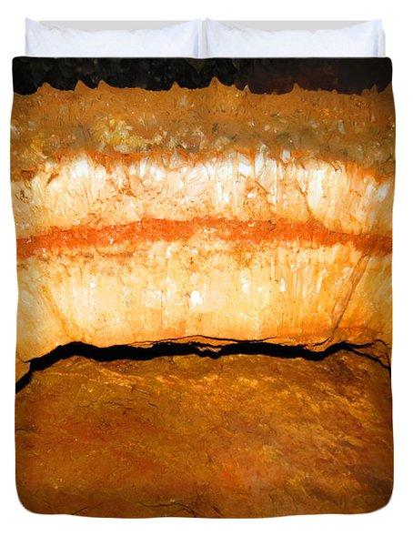 Indian Headdress. Sitting Bull Crystal Caverns Duvet Cover by Ausra Huntington nee Paulauskaite