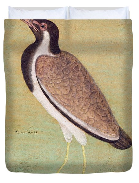 Indian Lapwing Duvet Cover by Mansur
