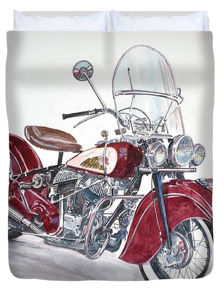 Indian Motorcycle Duvet Cover by Anthony Butera