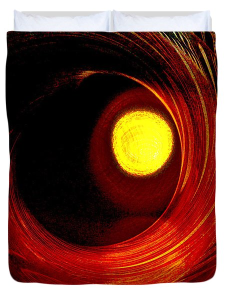 Indian Pottery As Earth Air Fire Duvet Cover by Lenore Senior