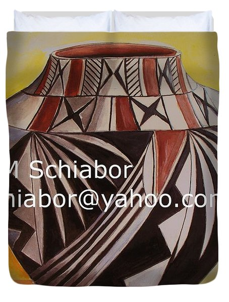 Indian Pottery Duvet Cover by Eric  Schiabor