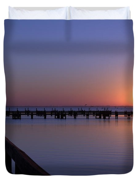 Indian River Sunrise Duvet Cover by Brian Harig