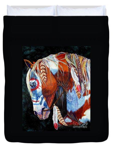 Indian War Pony Duvet Cover by Amanda Hukill