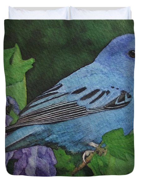 Indigo Bunting No 2 Duvet Cover by Ken Everett