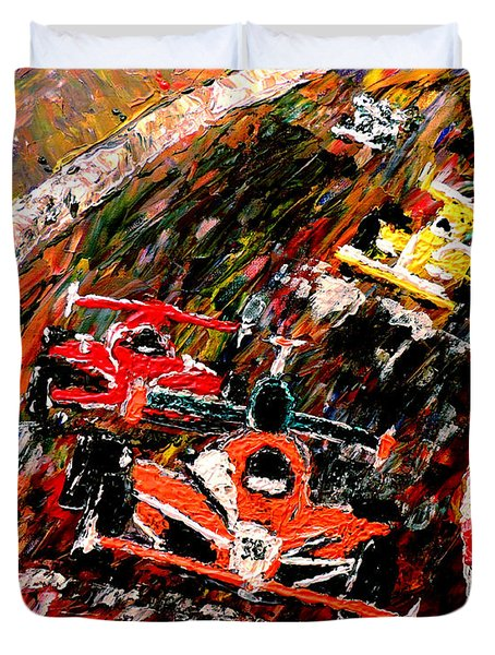 Indy 500  Duvet Cover by Mark Moore