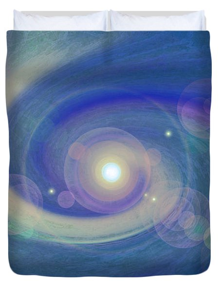 Infinity Blue Duvet Cover by First Star Art