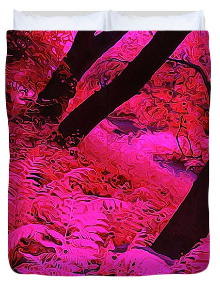Infrared Fern Garden Duvet Cover by Bill Caldwell -        ABeautifulSky Photography