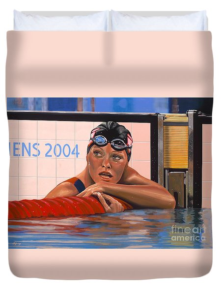 Inge de Bruijn Duvet Cover by Paul Meijering