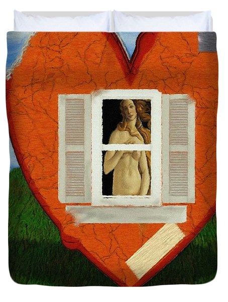 Inner Beauty Duvet Cover by Jeff Kolker