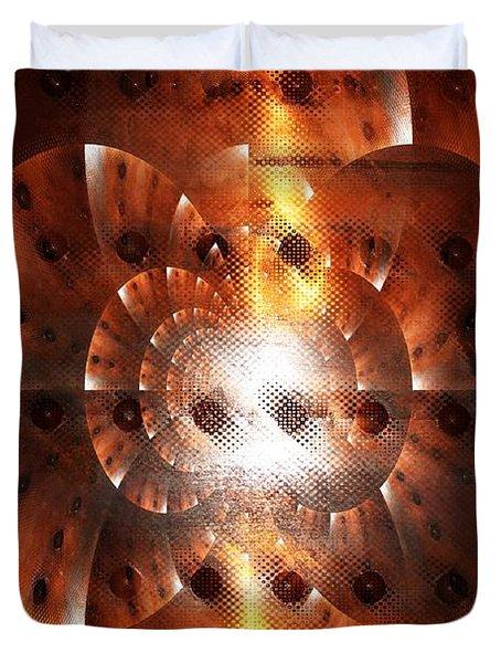 Inner Strength - Abstract Art Duvet Cover by Carol Groenen