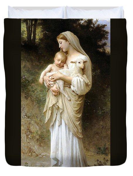 Innocence Duvet Cover by William Bouguereau