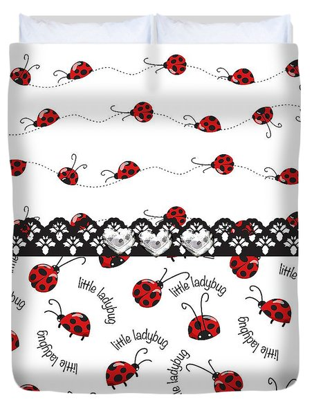 Innocent Ladybugs  Duvet Cover by Debra  Miller