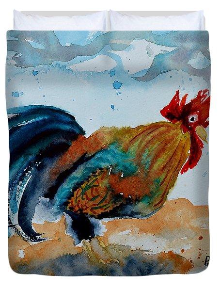 Innocent Rooster Duvet Cover by Beverley Harper Tinsley