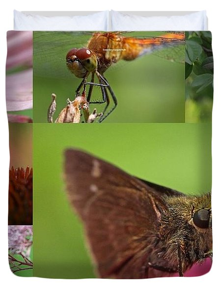 Insect Macro Photography Art Duvet Cover by Juergen Roth