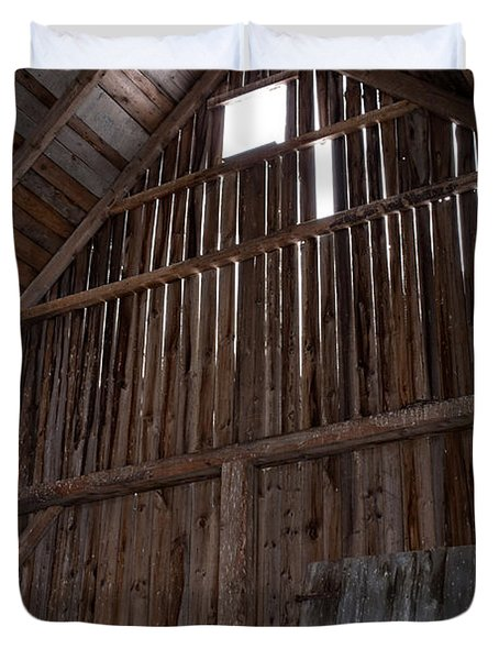 Inside An Old Barn Duvet Cover by Edward Fielding