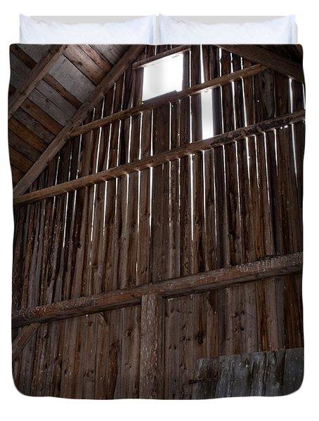 Inside an old barn Duvet Cover by Edward Fielding