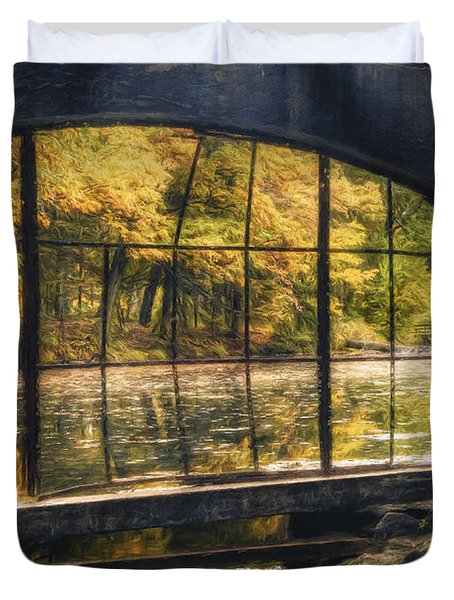 Inside The Old Spring House Duvet Cover by Scott Norris