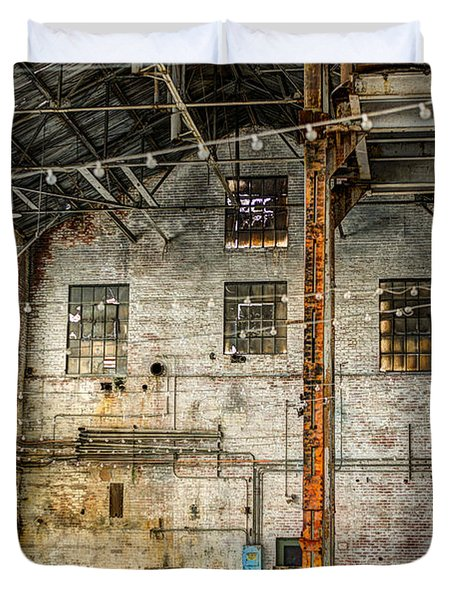 Inside The Old Sugar Mill Duvet Cover by Agrofilms Photography