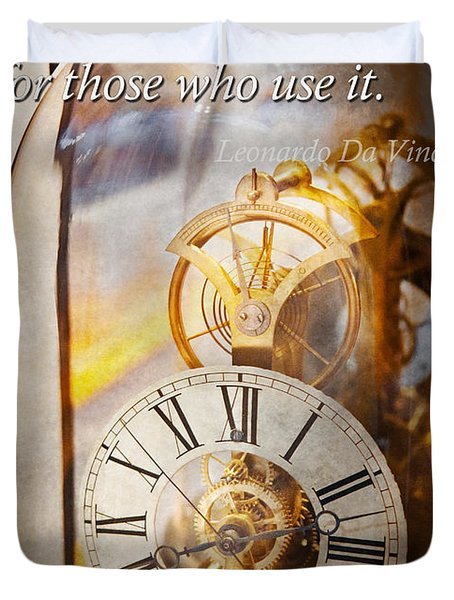 Inspirational - Time - A Look Back In Time - Da Vinci Duvet Cover by Mike Savad