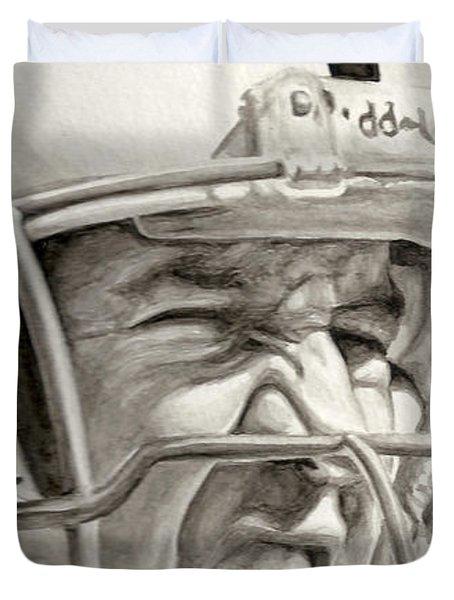 Intensity Peyton Manning Duvet Cover by Tamir Barkan
