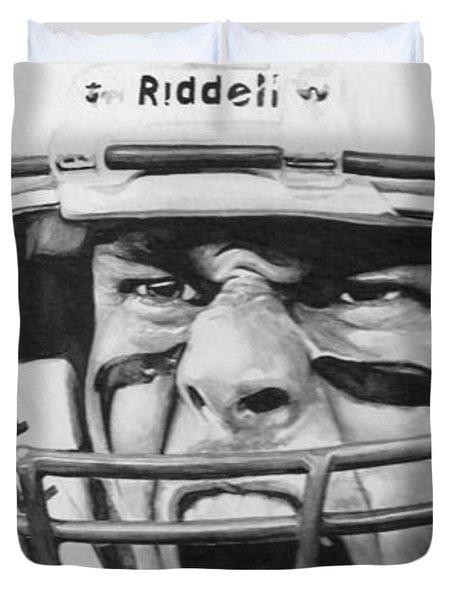 Intensity Tom Brady Duvet Cover by Tamir Barkan