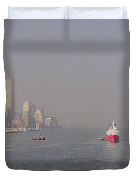 Into Port Duvet Cover by Joann Vitali
