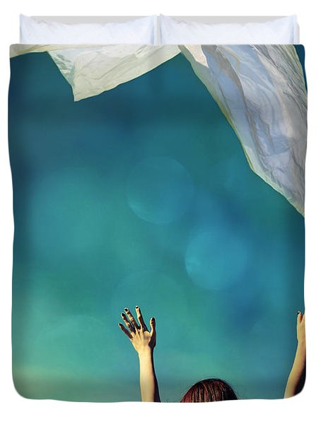 Into The Atmosphere Duvet Cover by Laura Fasulo