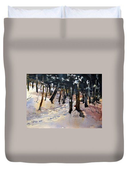 Into The Woods Duvet Cover by Spencer Meagher
