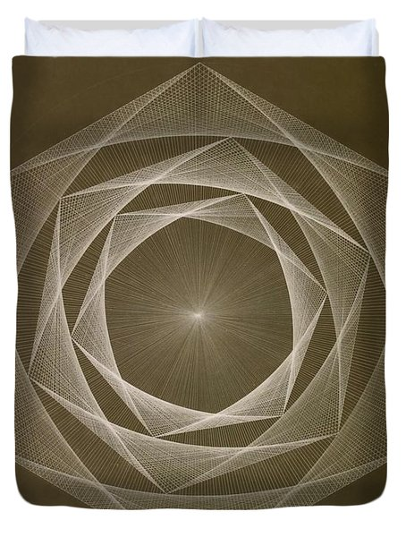 Inverted Energy Spiral Duvet Cover by Jason Padgett