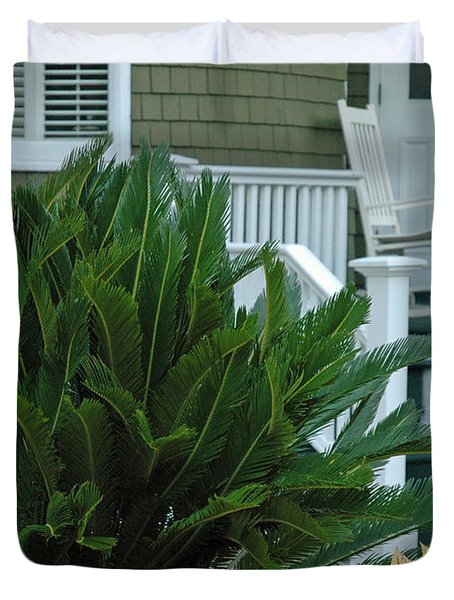 Inviting Front Porch Duvet Cover by Bruce Gourley