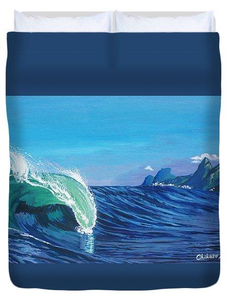 Ipanema Beach Duvet Cover by Chikako Hashimoto Lichnowsky