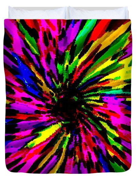 IPHONE CASES COLORFUL FLORAL ABSTRACT DESIGNS CELL AND MOBILE PHONE COVERS CAROLE SPANDAU ART 159 Duvet Cover by CAROLE SPANDAU