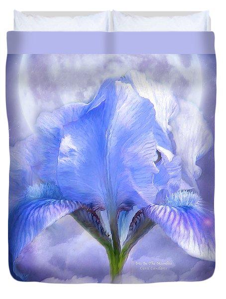 Iris - Goddess In The Moonlite Duvet Cover by Carol Cavalaris