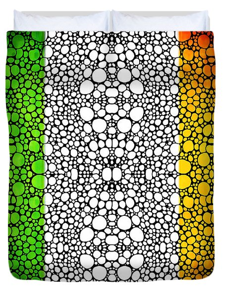 Irish Flag - Ireland Stone Rock'd Art By Sharon Cummings Duvet Cover by Sharon Cummings