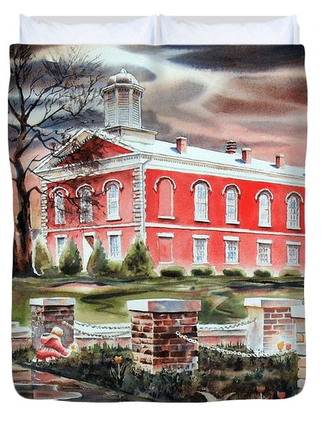 Iron County Courthouse No W102 Duvet Cover by Kip DeVore