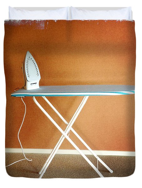 Iron on board Duvet Cover by Les Cunliffe