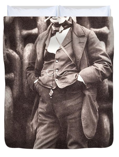 Isambard Kingdom Brunel  Duvet Cover by Robert Howlett
