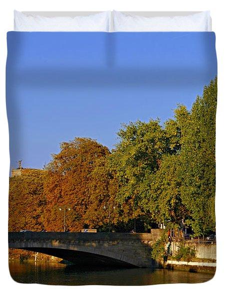 Isar River - Munich - Bavaria Duvet Cover by Christine Till