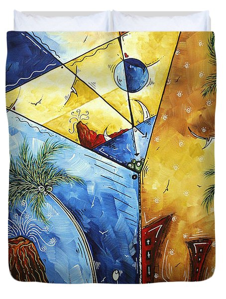Island Martini  Original Madart Painting Duvet Cover by Megan Duncanson