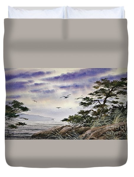 Island Sunset Duvet Cover by James Williamson