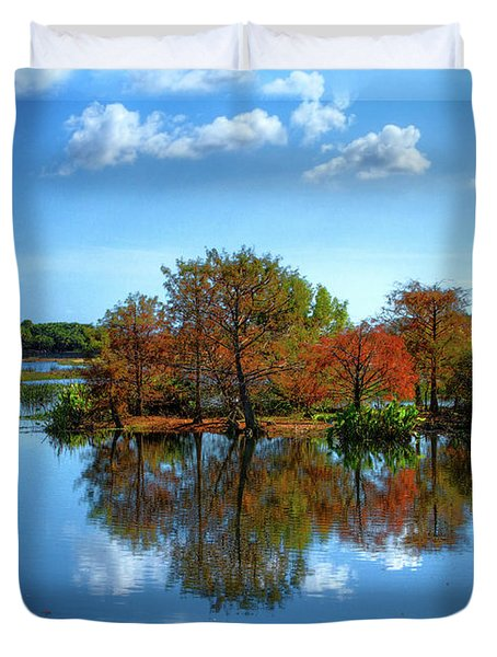 Islands In The Sun Duvet Cover by Debra and Dave Vanderlaan