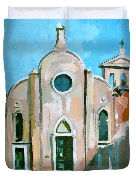 Italian Church Duvet Cover by Filip Mihail