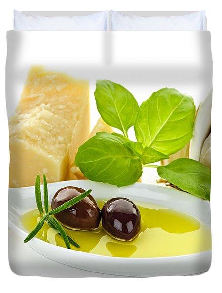 Italian Flavors Duvet Cover by Elena Elisseeva