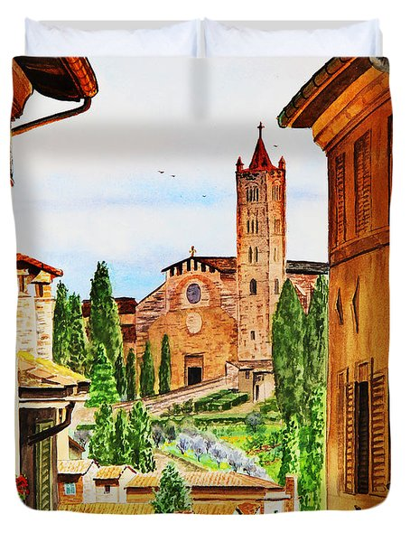 Italy Siena Duvet Cover by Irina Sztukowski