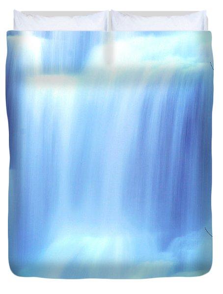 Ithaca Water Falls New York  Duvet Cover by Paul Ge