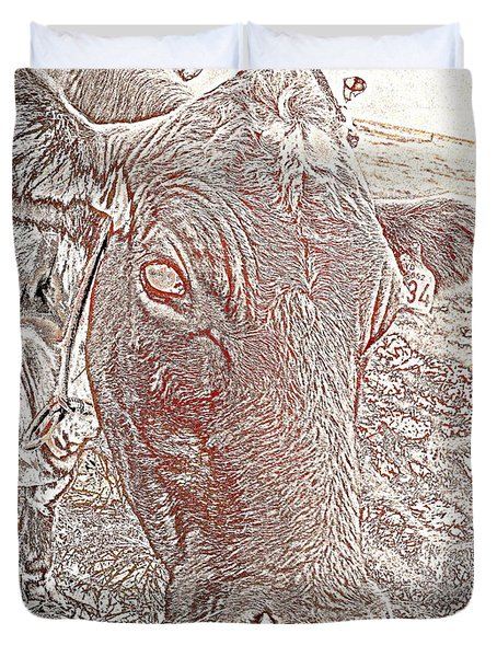 Its a cows life  Duvet Cover by Hilde Widerberg