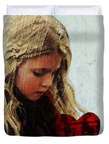 It's All I Have - Mixed Media Art By Sharon Cummings Duvet Cover by Sharon Cummings